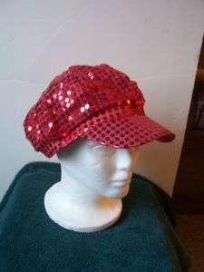 Pop star Diva Sequin Hat Red