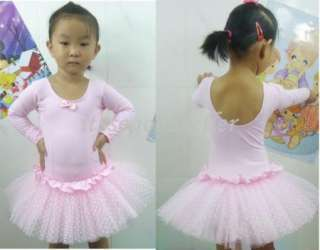Pink Girl Party Leotard Ballet Tutu Dance Dress 3 8Y