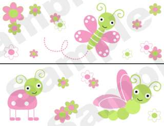 BUTTERFLY DRAGONFLY BABY GIRL WALL BORDER STICKER DECAL