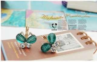 new Koreas jewelry fashion butterfly stud earrings lovely Xmas gift 5