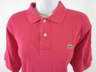 LACOSTE Bright Pink Short Sleeve Polo Shirt Top Sz 5
