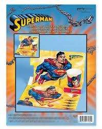 SUPERMAN ~ Super Hero Party Supplies~ POP UP PLACE MATS