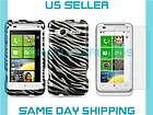Black & Silver Zebra Print Design Hard Case +LCD Cover For HTC Inspire