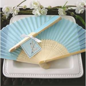 Silk Fan   Blue   Baby Shower Gifts & Wedding Favors (Set of 48) Baby
