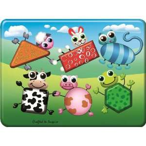 Puzzled Peg Puzzle   Farm Animals Shapes Wooden Toys Baby