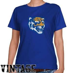 Memphis Tigers T Shirt  Memphis Tigers Ladies Royal Blue