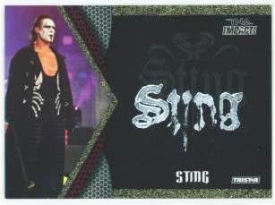 STING FACE PAINT CARD 10/60 TNA IMPACT 2009