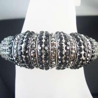 Marvelous Black agate silver GP bracelet BR33E