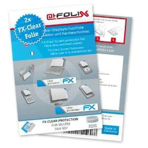 2 x atFoliX FX Clear Invisible screen protector for Mustek DVX