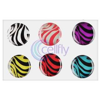 Cute Zebra Home Button Sticker for iPod Touch 4th Gen