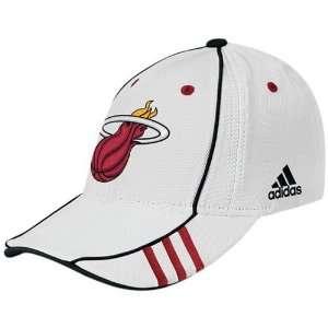 adidas Miami Heat White NBA 07 Draft Day Cap Sports