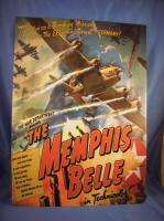 BELLE AIRPLANE 40S WAR MOVIE METAL TIN SIGN 1944 bomber army air force