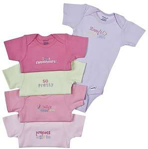 Gerber 5 Pack Solid Onesies Brand Girls Underwear