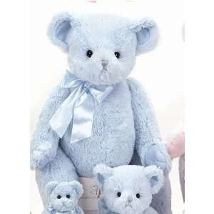 Giant Plush Teddy Bear in Blue for Baby Boy by Bearington