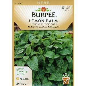 Burpee 61458 Herb Lemon Balm Seed Packet Patio, Lawn