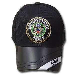 UNITED STATES SEAL ARMY SHIELD BLACK CAP HAT ADJ NEW