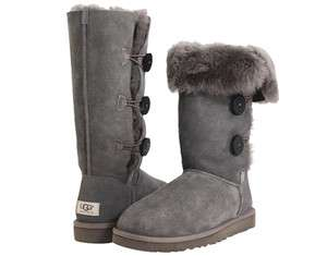 New UGG Australia Bailey Button Triplet Womens Grey Winter Boots 1873