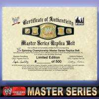 WWE Master Series Championship SPINNER Replica BELT