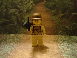 custom lego minifig military ARMY with brickarms weapons new
