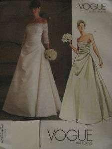 Vogue Bridal Wedding Dress Gown Pattern V2842~Size 6 22