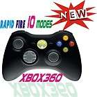 Xbox 360 Black Wireless Rapid Fire 10 Modes stealth Controller HALO2/3