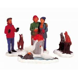 Lemax Christmas Village Collection Lighted All Together Now 4 Piece