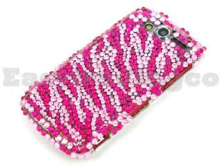 Crystal Bling Case T Mobile HTC MyTouch 4G Pink Zebra