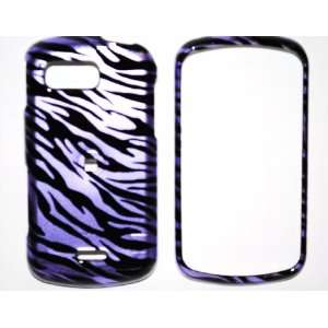 Purple Black Zebra Samsung Moment M900 Snap on Cell Phone