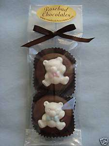 Twins CHOCOLATE Cookie Teddy Bears Baby Shower Favors