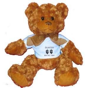 DALMATION MANS BEST FRIEND Plush Teddy Bear with BLUE T