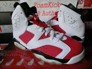 VI Retro GS Carmine Red CDP Countdown Pack Boy Girl Youth Shoe
