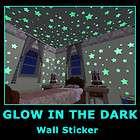 Glow in Dark Children Bedroom Deco Wall Stickers Decals Star Moon 2PCS