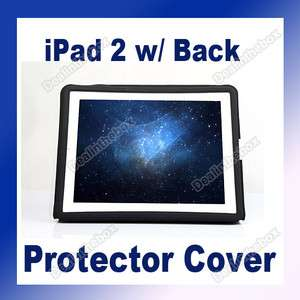 PU Leather protector Cover Case Stand For iPad 2 W/Back