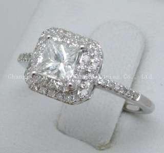 5mm Princess SOLID 14k Gold Natural Diamond Semi Mount Ring