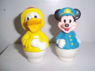 Vintage Fisher Price Disney Little People ~ Mickey Mouse & Donald Duck