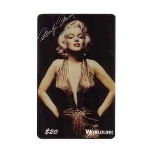 20. Marilyn Monroe (Regular Issue) Gold V Cut Dress & Hands on Hips