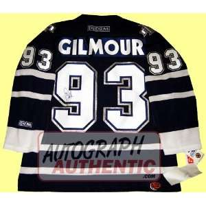 Autographed Doug Gilmour Toronto Maple Leafs Jersey (Blue