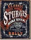 Sturgis South Dakota Classic Bike Week Motorcycle Rally 1938 Tin Metal
