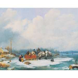 Cornelius Krieghoff   Winter Landscape   Canvas  Home