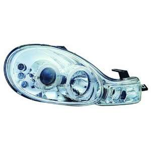 Headlight with Rings, Corners and Chrome Housing   Pair Automotive