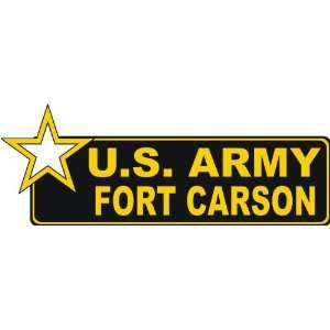 United States Army Fort Carson Bumper Sticker Decal 6