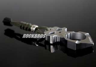 ROCKBROS Titanium Ti Skull Cross Skeleton Design Charm Pendant Self