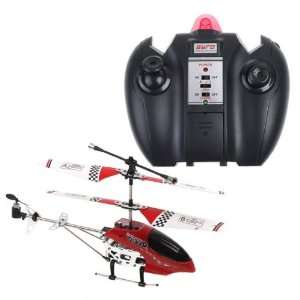 Mini 3 Channel RC R/C Remote Control Helicopter Red Toys & Games
