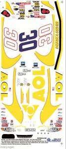 30 AOL NASCAR Slixx High Quality Slot Car Vinyl Decal