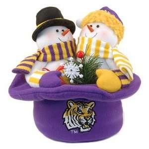 LSU Tigers Snowmen Top Hat