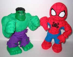 14 Singing Dancing Plush SpiderMan & Hulky Pokey Hulk