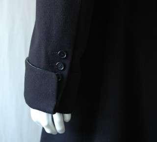 GIANFRANCO FERRE Mens Long Black CASHMERE Coat 40/50