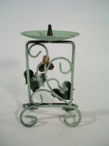 French Country Tuscan Style Candle Holders Metal Grapes