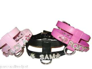 PERSONALIZED PET DOG HARNESS FREE NAME ALL COLOR/SIZES