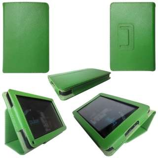 Leather Pouch Case Cover Jacket for  Kindle Fire Tablet Green 06